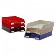 Corbeille à courrier ajourée 9126512 noir - Acco Valrex