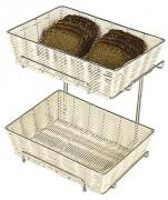 Corbeille à pain - 2 niveaux - Dimensions (Longueur x Largeur): 35x26 cm - Hauteur: 30cm - Poids: 1,68 kg