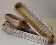 Corbeille à pain allongée - En différentes dimensions  -  En osier