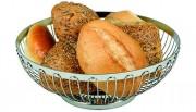 Corbeille à pain inox ronde - Inox 18/8 - 2 modèles au choix: 17 ou 25,5 cm en diamètre