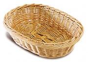 Corbeille à pain ovale en osier - Dimensions (L x l) cm : De 15 x 12 à 30 x 20