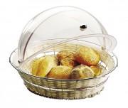 Corbeille à pain ronde - Hauteur: 8 cm - Poids: 0,87 kg - Diamètre: 40 cm