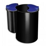 Corbeille à papier 16 litres noir Confort - CEP