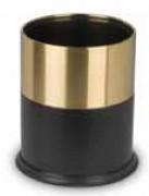 Corbeille à papier élégante - Diamètre : 22 cm - Hauteur : 27 cm