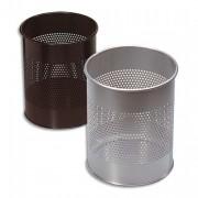 Corbeille à papier métal ajourée 15 litres noir - ATLANTA