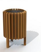 Corbeille acier et bois aurillac - Capacité (L) : 40