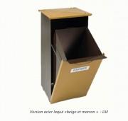 Corbeille acier pour papier - Capacité brut 50 L