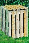 Corbeille bois 100 L - Capacité 100 litres avec façade amovible