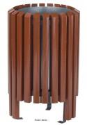 Corbeille bois exotique - Capacité : 40 L