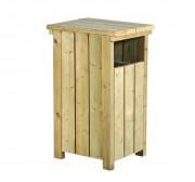 Corbeille carrée bois - Capacité : 80 L