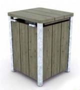 Corbeille carrée en bois - En pin traité - Capacité (L) : 100