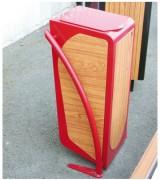 Corbeille carrée fonctionnelle moderne - Encombrement (mm) : 500 x 420