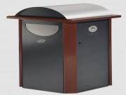 Corbeille cendrier public - Dimension (Lxlxh) mm : 560 x 560 x 1210