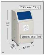 Corbeille conteneur tri sélectif - Fabrication en tôle acier galvanisé.