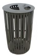 Corbeille cylindrique en métal - Capacité : sac de 100 à 150 litres