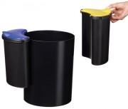 Corbeille de bureau tri sélectif 16L - Permet de trier 3 types de déchets
