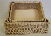 Corbeille de pain en osier fond contreplaqué - Différentes dimensions  -  Fond contreplaqué