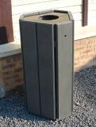 Corbeille de parc en plastique recyclé - Grande contenance de 100 L