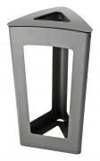 Corbeille de propreté vigipirate en acier - Contenance : 110 L - Hauteur : 890 mm