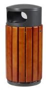 Corbeille de ville bois métal - Contenances : 40L - 60L