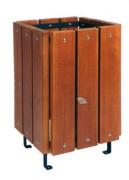 Corbeille de ville en bois exotique - Capacité (L) :55