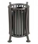 Corbeille de ville métallique 65 litres - Capacité (L) : 65