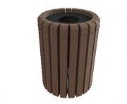 Corbeille de ville plastique recyclé - Hauteur (cm) : 77
