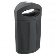 Corbeille de ville recyclable - Capacité : 80 L - Polyéthylène, 100 % recyclable
