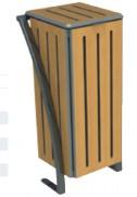 Corbeille de ville stratifié en bois - Dimensions (H x L  en cm) : 93 x 41 - 120 L