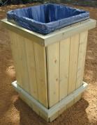 Corbeille de ville tout bois - Capacité : 100 litres