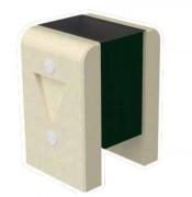 Corbeille en béton 48 L - Dimensions ( H x L x P) : 73 x 53 x 46