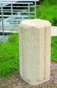 Corbeille en béton 80 L - Capacité : 80 L - Hauteur : 92 cm - Largeur extérieure : 50 cm