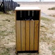 Corbeille en bois 100 litres - Hauteur : 1200 mm