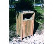 Corbeille en bois à façe amovible - Dimensions : 0.50 L m x 0.54 l m x 0.95 Ht m - Facade amovible
