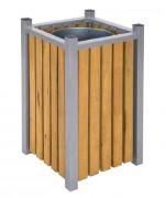 Corbeille en bois extérieur - Contenance (L) : 40