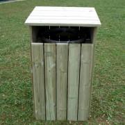 Corbeille en bois hauteur 1200 mm - Contenance : 100 litres