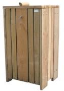 Corbeille en bois structure métallique - En pin traité - Capacité : 100 L