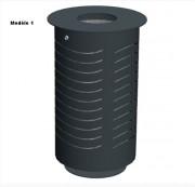 Corbeille en métal pour extérieur - Capacité : 70 L
