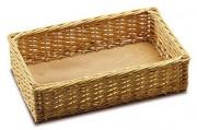 Corbeille en osier pour pain - En osier blanc décortiqué et sans teinture