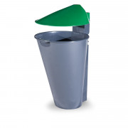 Corbeille en polyéthylène recyclable - Capacité (L) : 55