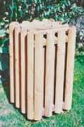 Corbeille extérieur bois - Capacité : 60 Litres