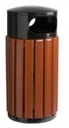Corbeille extérieur en bois 40 à 60 Litres - Capacité : 40 à 60 L
