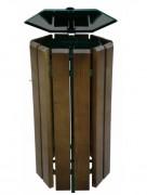 Corbeille extérieur en bois - Pour sac de (L) : 80 à 150