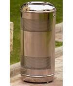 Corbeille extérieure acier inoxidable - 41 ou 64 litres