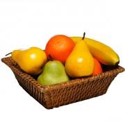 Corbeille fruits et légumes en rotin - Dimension (cm) : 22 x 22 x 7