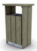 Corbeille habillage bois - En pin traité - Capacité (L) : 120