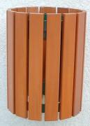 Corbeille murale en bois - Capacité : 30 litres