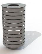 Corbeille nice acier - Capacité (L) : 60