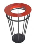 Corbeille support sac poubelle - Diamètre couvercle (mm) : 500
