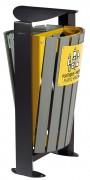 Corbeille sur pied tri sélectif 2 compartiments - 2 compartiments de 60 L